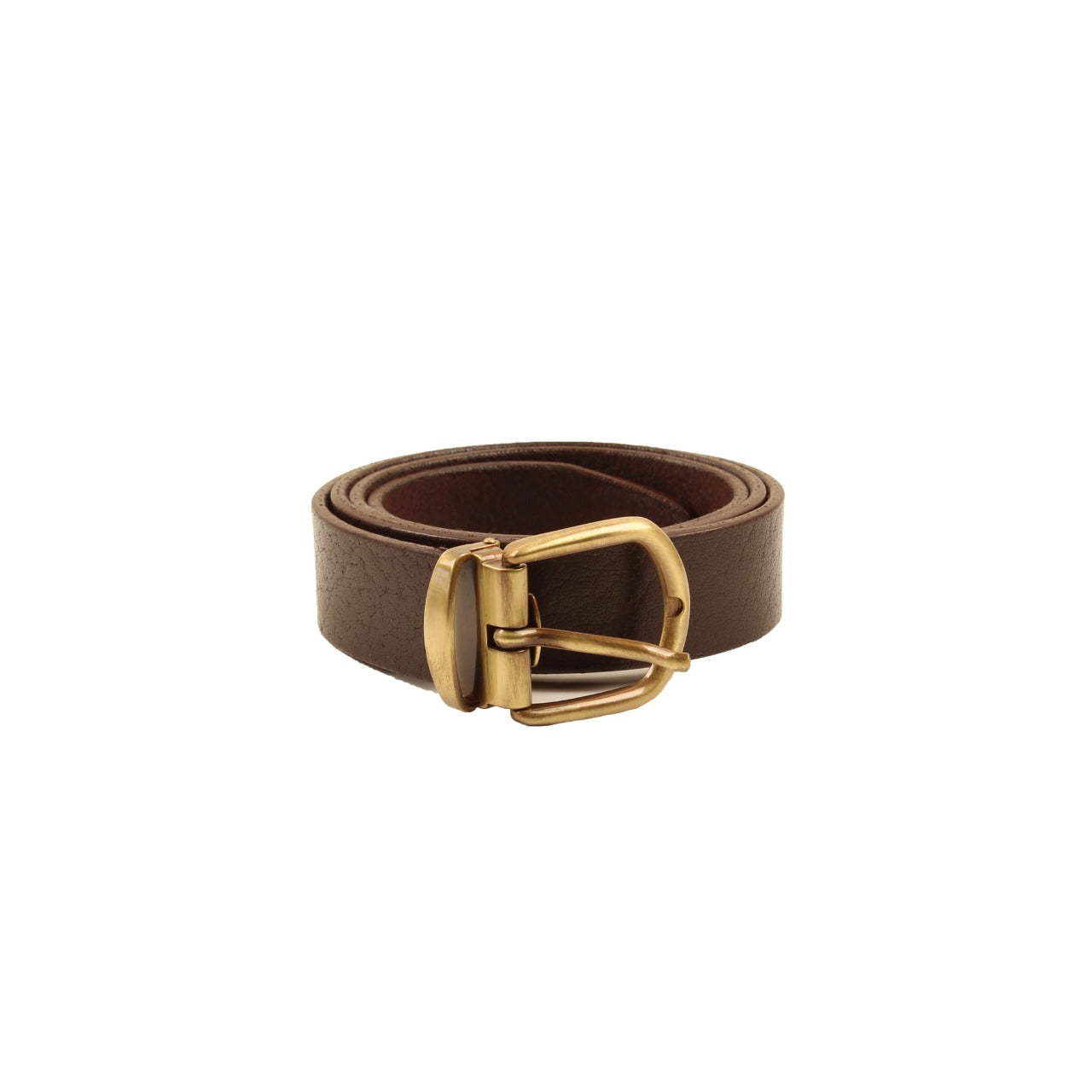 Floral Embossed Belt Dark Brown