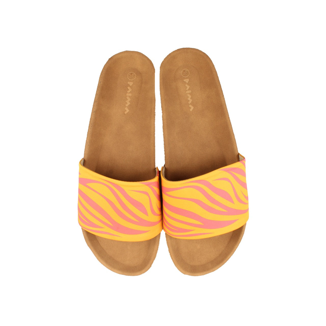Zebra Slides Orange X Hot Pink