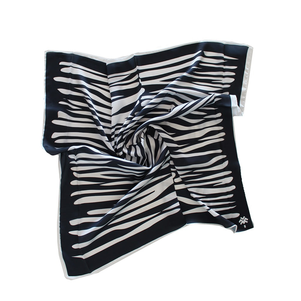 Zebra White X Black Headband