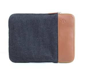 Black x Havane Colour Block Laptop Sleeve