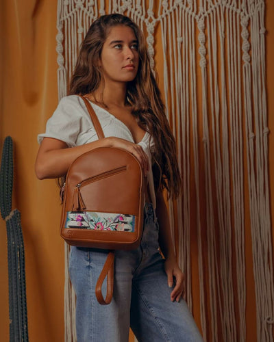 Havane x Floral stripes Tassel Backpack