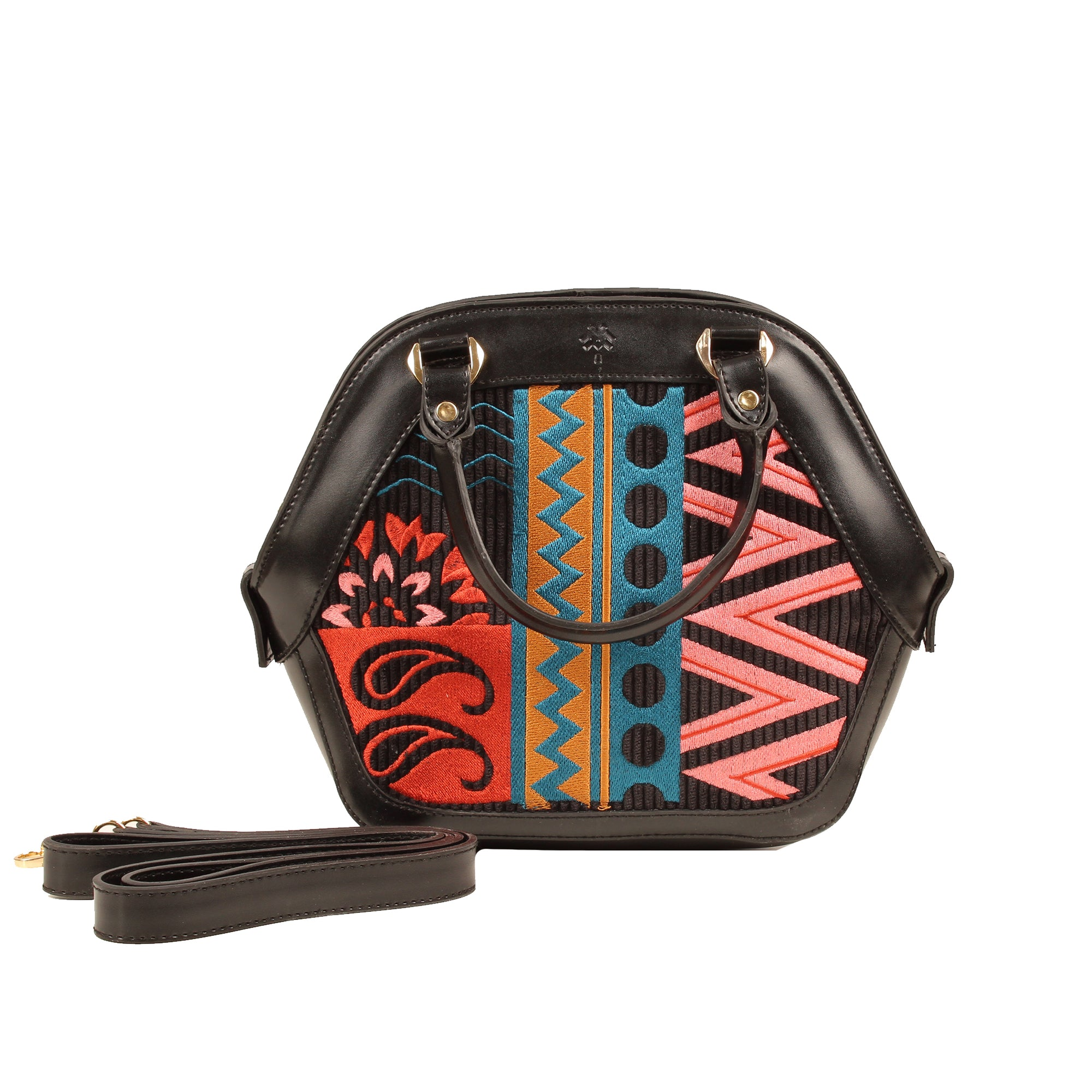 Aulora Patterned Bag Black