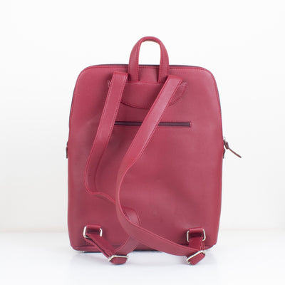 Burgundy Curvy Laptop bag