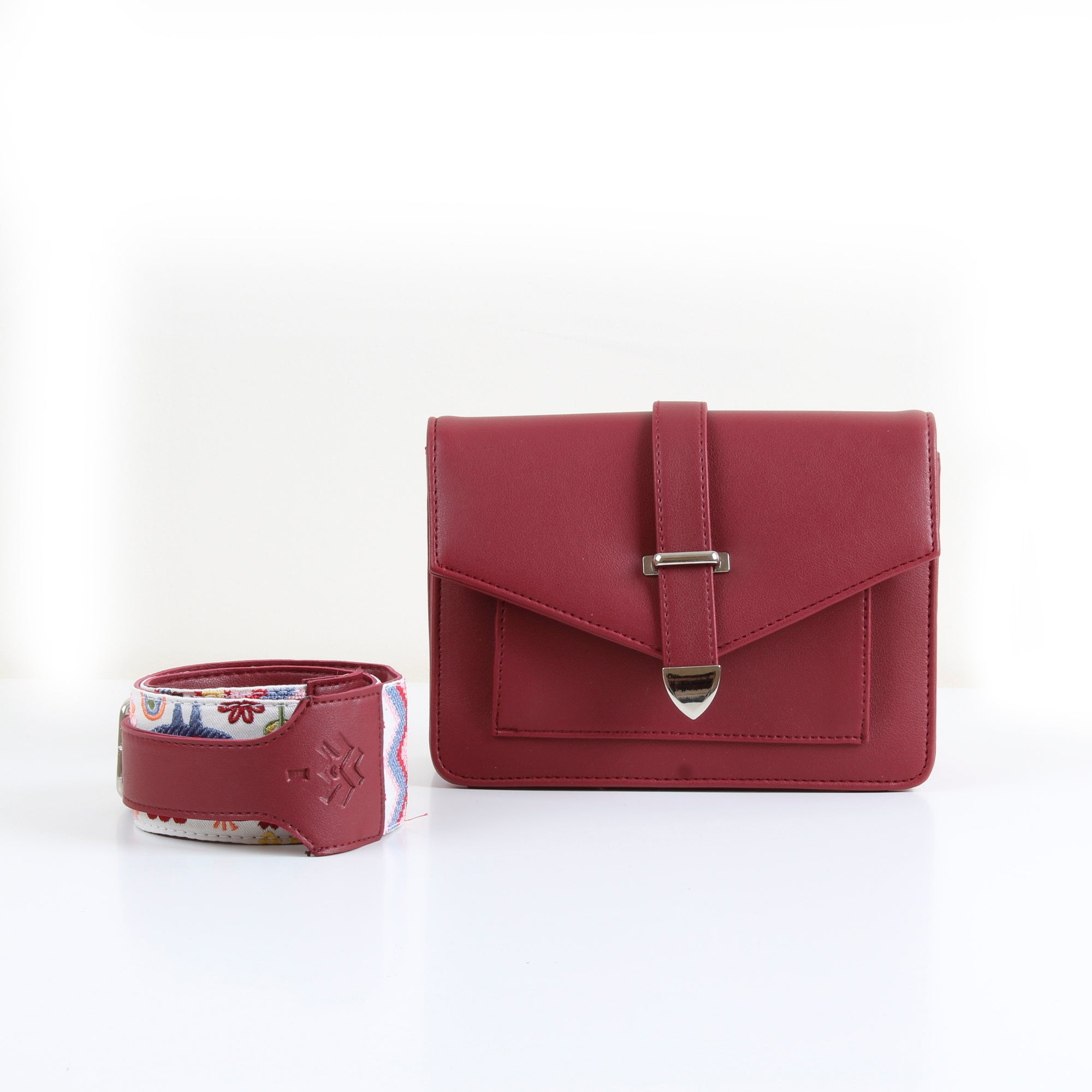 Town Cross-Bag Burgundy
