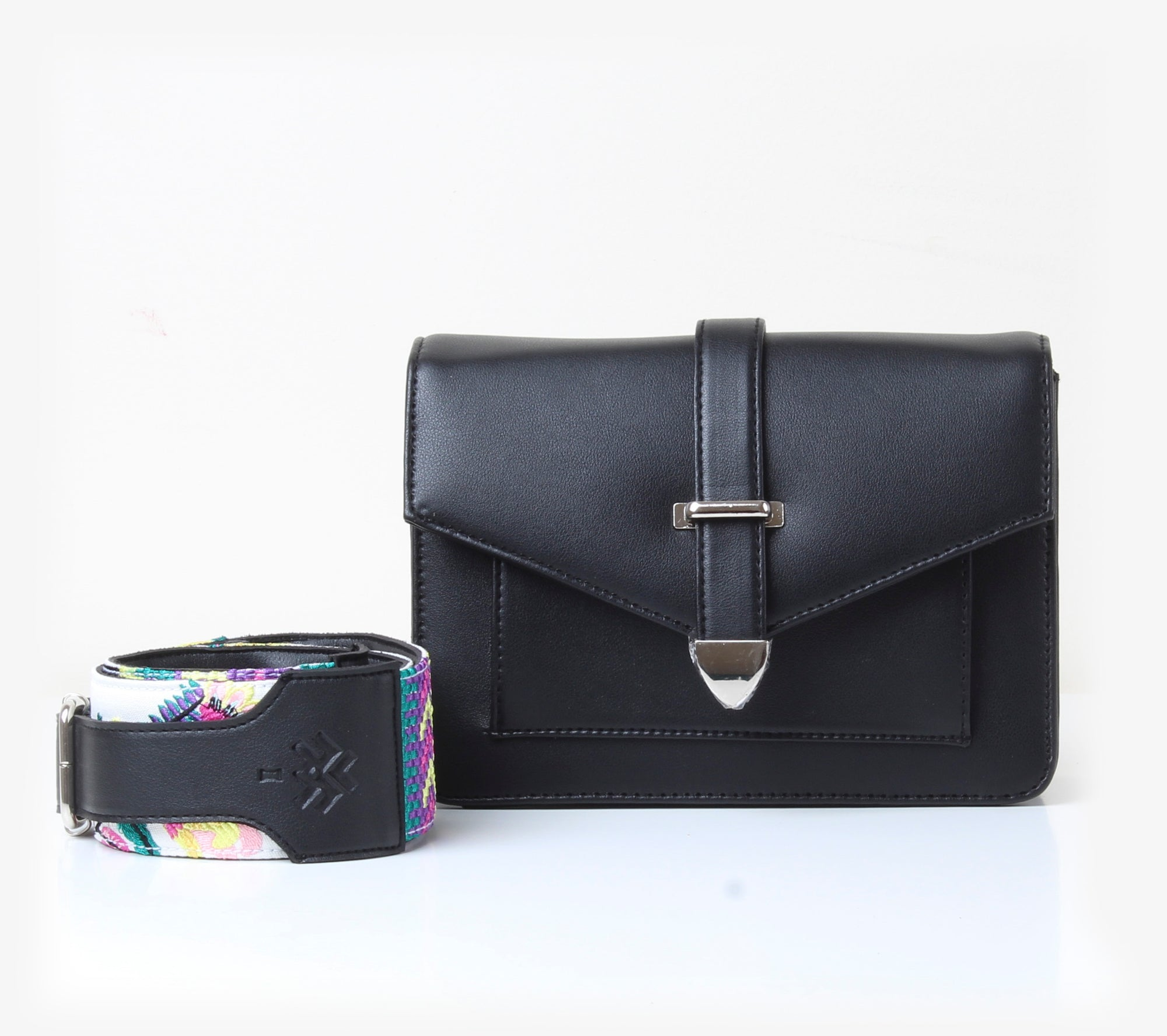 Town Cross-Bag Patterned Black