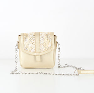 Gold SnakeSkin Mini CrossBag