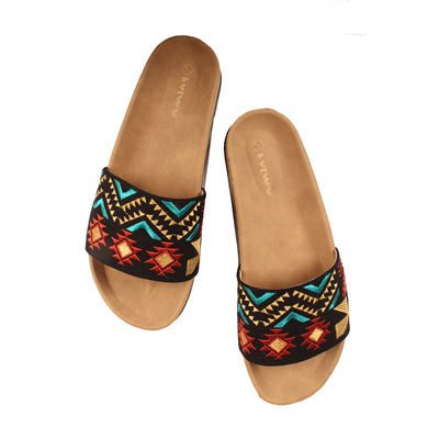 The Boho Patchwork Slides III