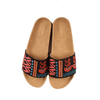 The Boho Patchwork Slides II