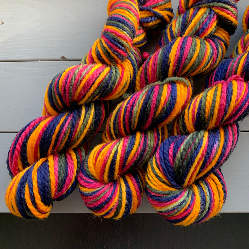 Rainy Day - Self Striping Merino Nylon Bulky