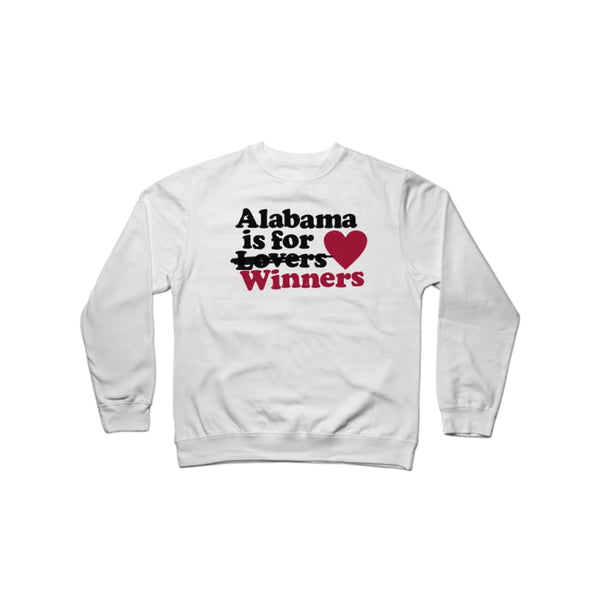 Alabama is for Winners Crewneck Sweatshirt | Crewneck Sweatshirt | Bleacher Report Shop