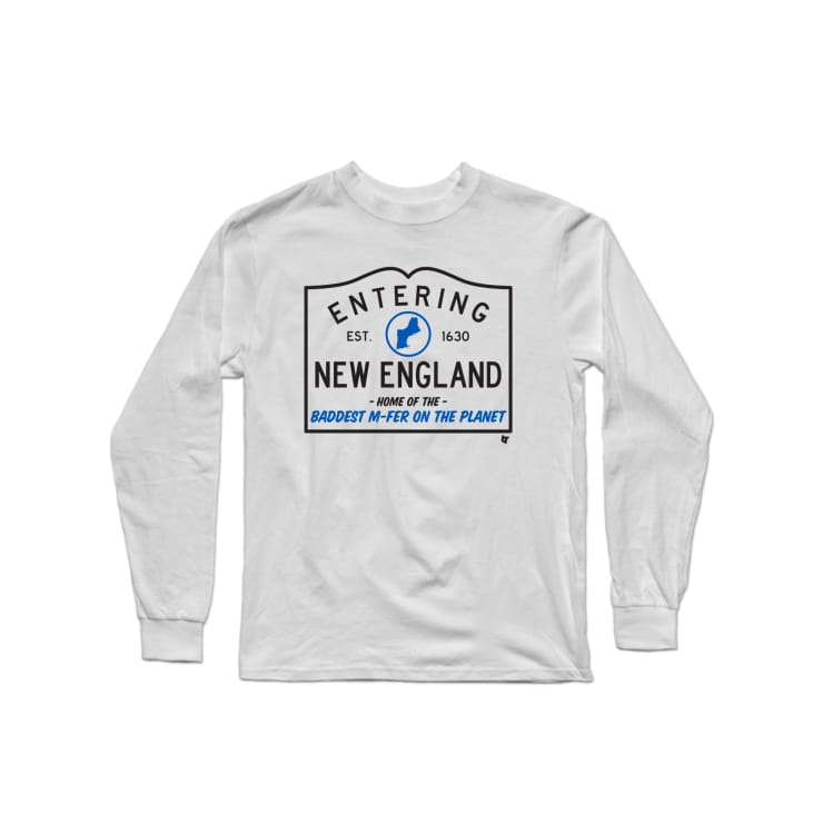 Welcome to New England Longsleeve Shirt | Long Sleeve T-Shirt | Bleacher Report Shop