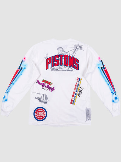 Big Sean x Detroits Pistons Long Sleeve T-Shirt