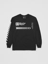 B/R Black Long Sleeve T-Shirt