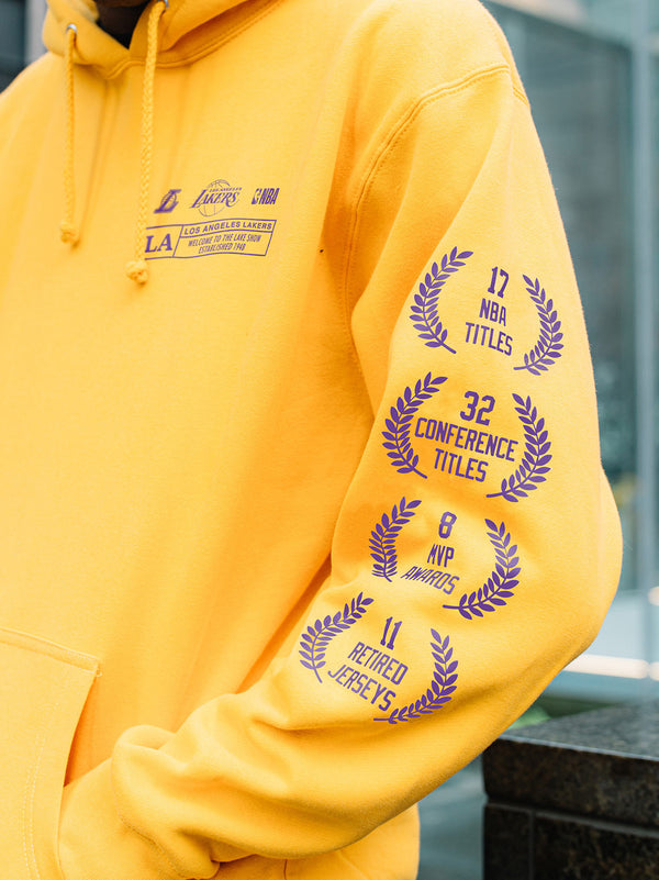 The Lakers Check The Credits Gold Hoodie