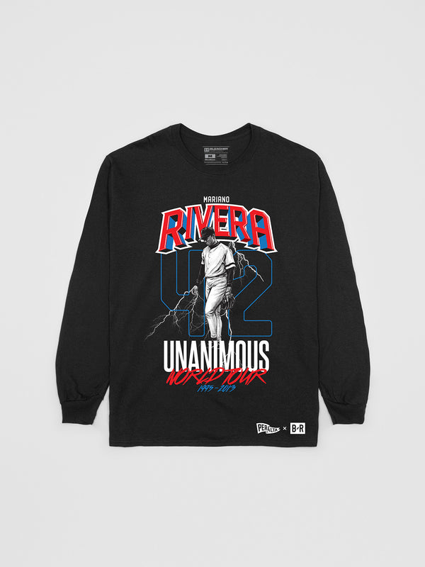 Mariano Rivera Unanimous Tour Long Sleeve T-Shirt | Long Sleeve T-Shirt | Bleacher Report Shop