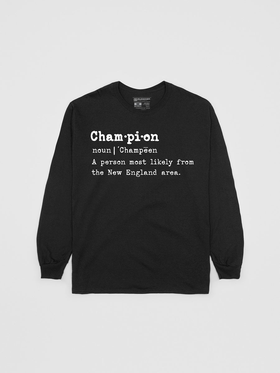 New England Champion Longsleeve Shirt | Long Sleeve T-Shirt | Bleacher Report Shop