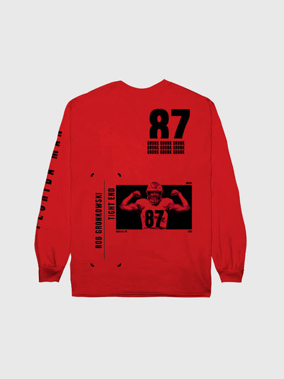 Rob Gronkowski #87 Long Sleeve T-Shirt