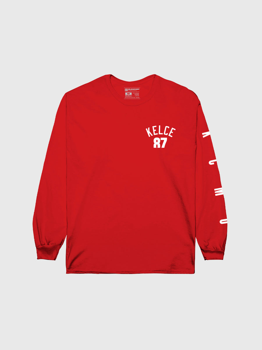Travis Kelce #87 Long Sleeve T-Shirt