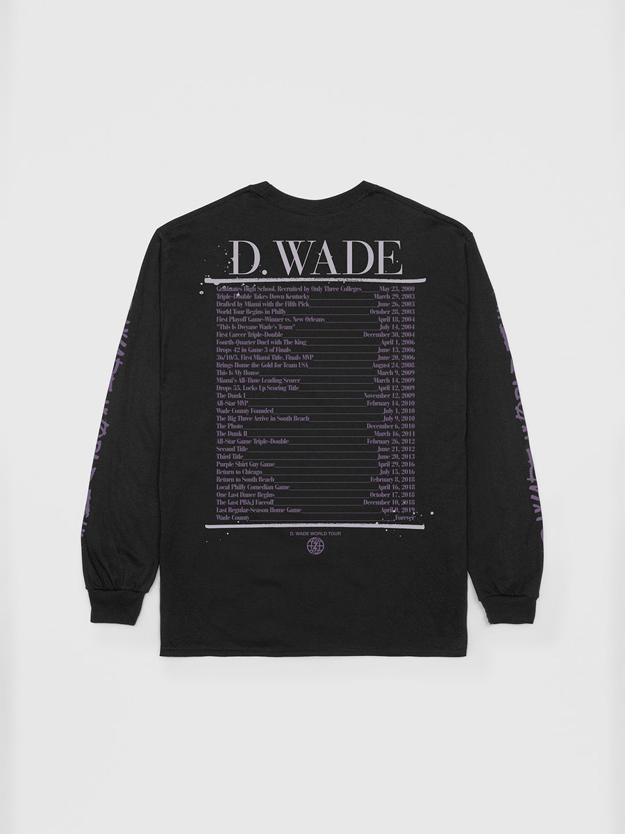 Dwyane Wade Limited Edition Long Sleeve T-Shirt | Long Sleeve T-Shirt | Bleacher Report Shop