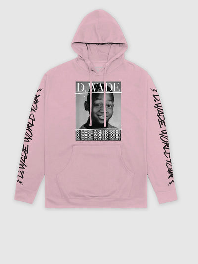 Dwyane Wade Pink World Tour Hoodie | Front | Bleacher Report Shop