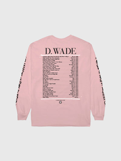 Dwyane Wade Pink World Tour Long Sleeve