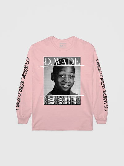 Dwyane Wade Pink World Tour Long Sleeve | Long Sleeve T-Shirt | Bleacher Report Shop