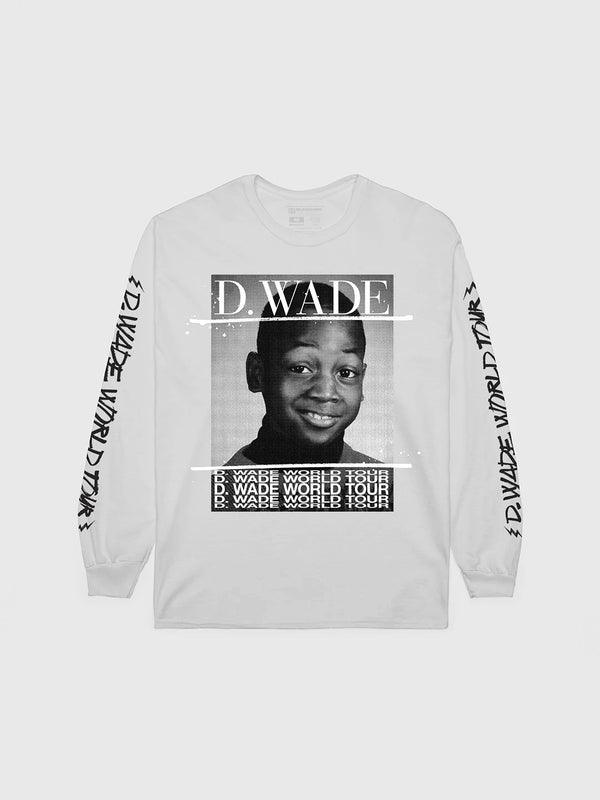 Dwyane Wade White World Tour Long Sleeve
