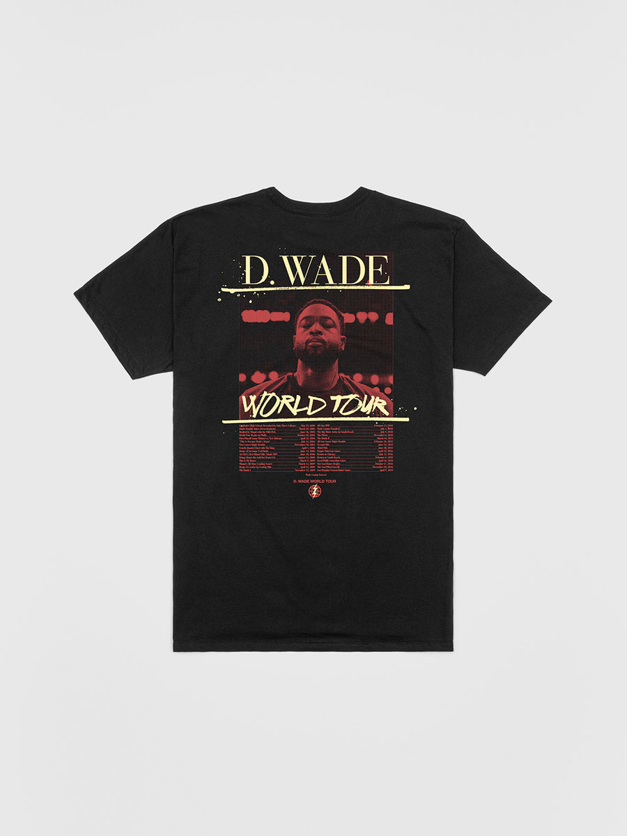 Dwyane Wade Black World Tour T-Shirt