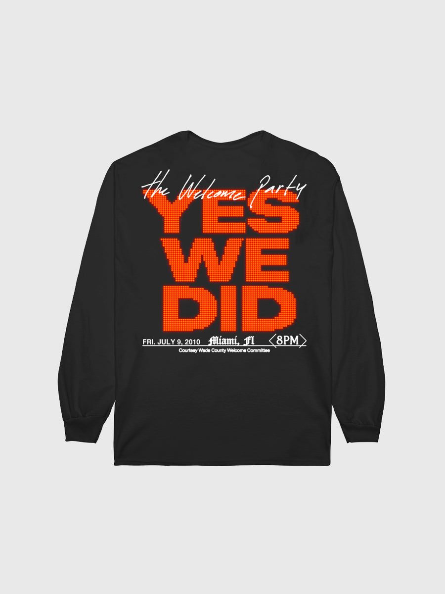 "Dwyane Wade Black ""The Welcome Party"" Long Sleeve"