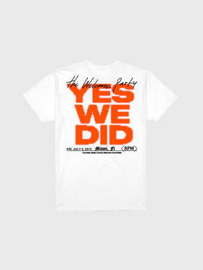 "Dwyane Wade White ""The Welcome Party"" T-Shirt"