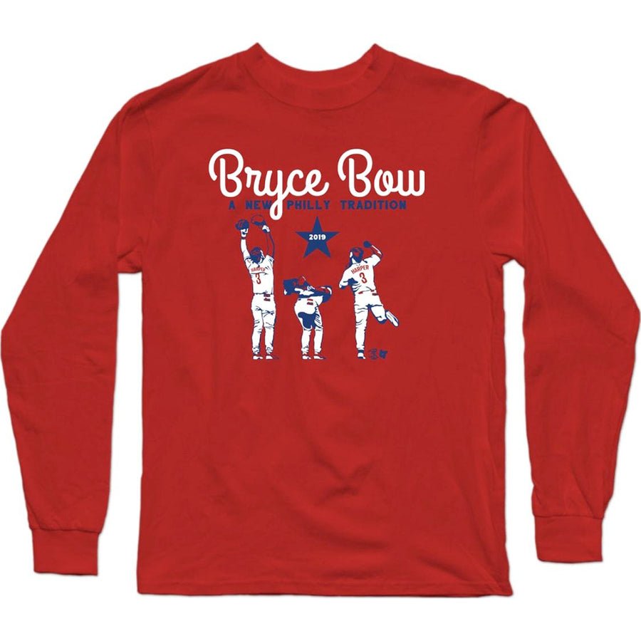 Bryce Harper Philly Bow Long Sleeve T-Shirt - Bleacher Report Shop
