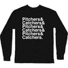 Pitchers&Catchers& Long Sleeve T-Shirt | Long Sleeve T-Shirt | Bleacher Report Shop