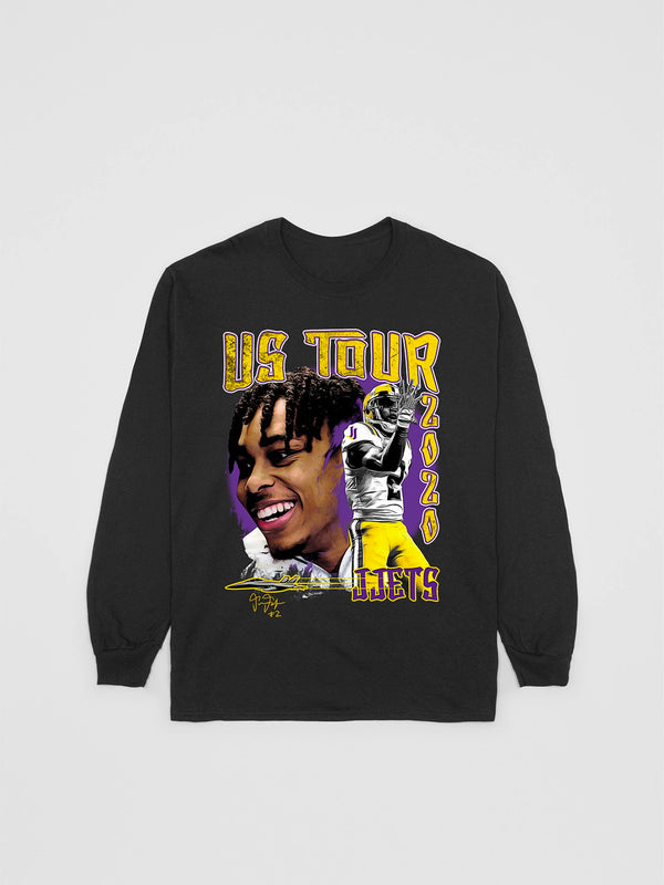 Justin Jefferson U.S. Tour Long Sleve T-Shirt | Bleacher Report Shop