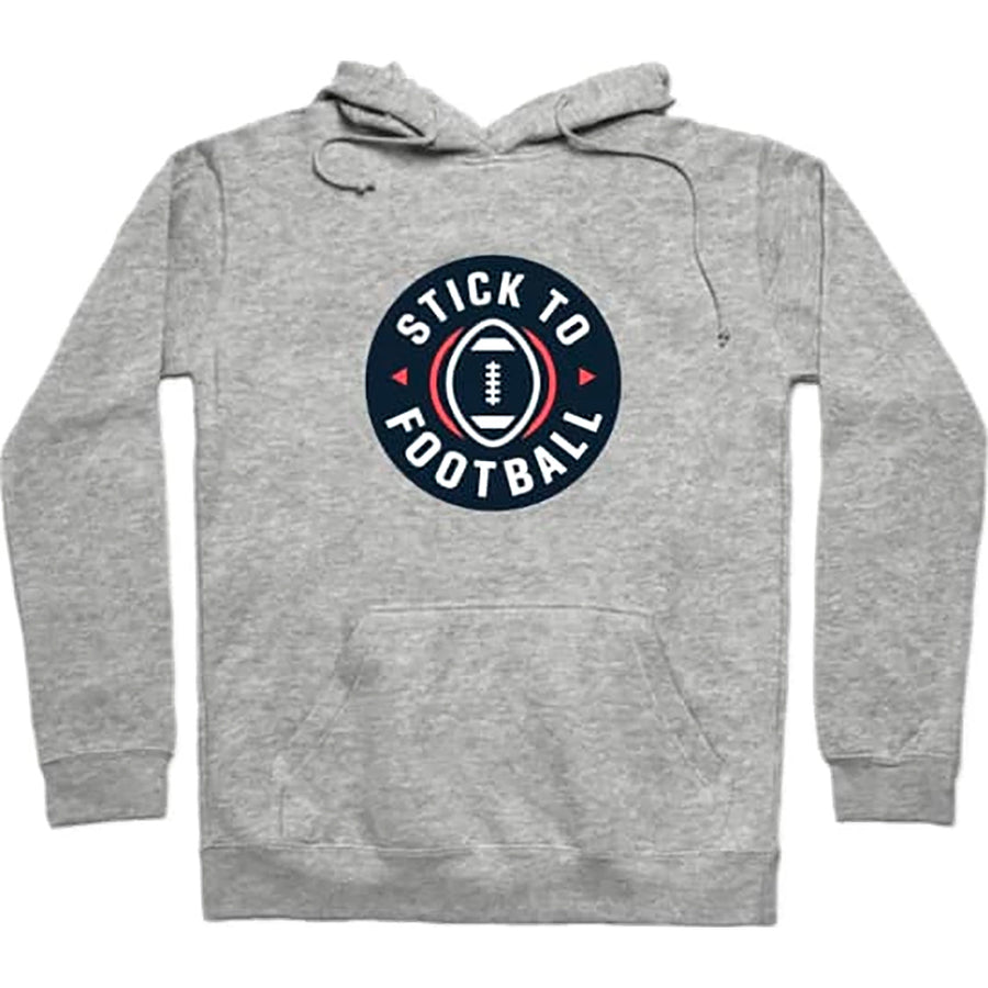 Stick to Football Podcast 2019 Gray Pullover Hoodie