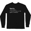 Tackle Definition Longsleeve Shirt | Long Sleeve T-Shirt | Bleacher Report Shop