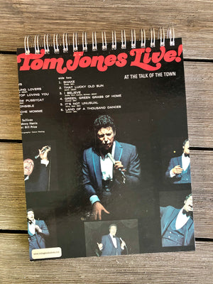 "Tom Jones ""Live!"" - Notebook"