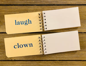Word Flash Card Note Pads (laugh, clown)