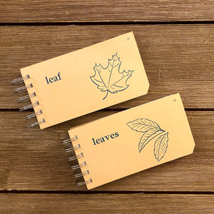 Word Flash Card Note Pads (leaf, leaves)