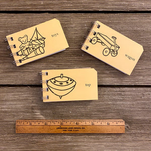 Mini Sight Word Flash Card Notepads - Toys, Wagon, Top