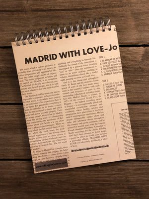 Madrid With Love Notebook