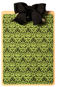Green and Black Mini Damask