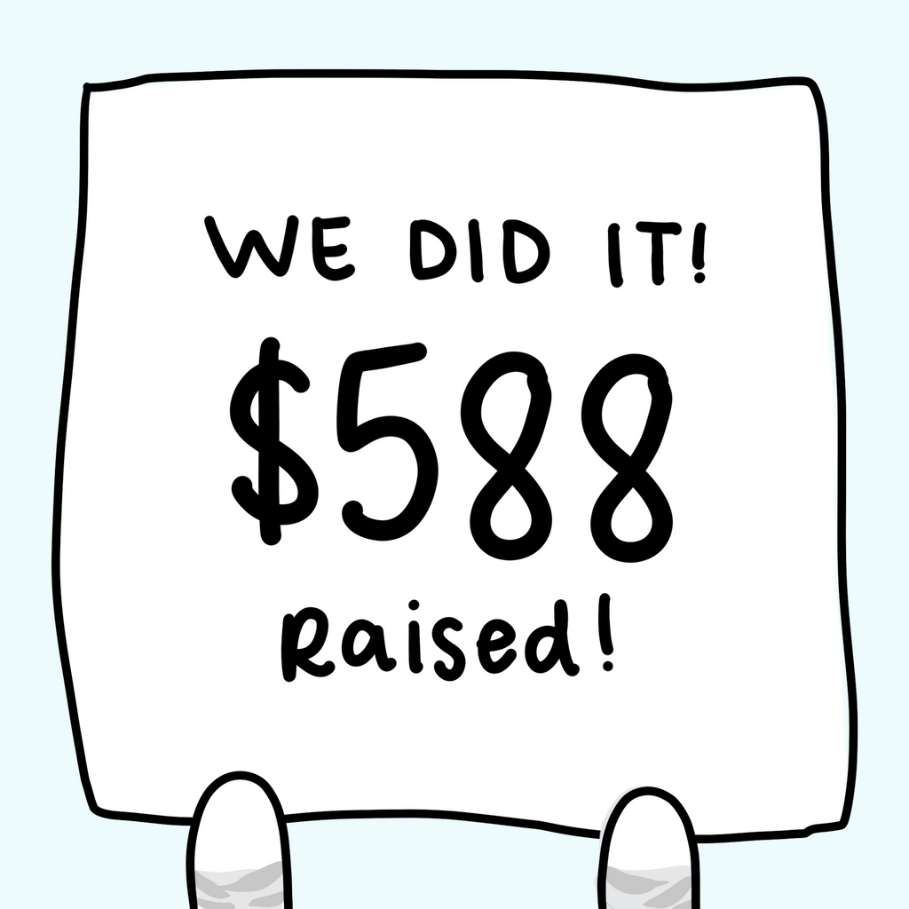 We Raised $588!