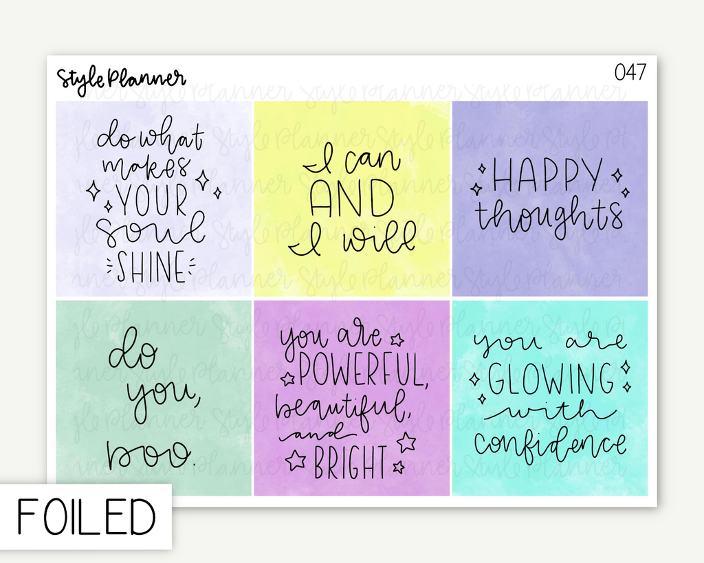 Positive Quotes Standard Deco Boxes With Holo Foil