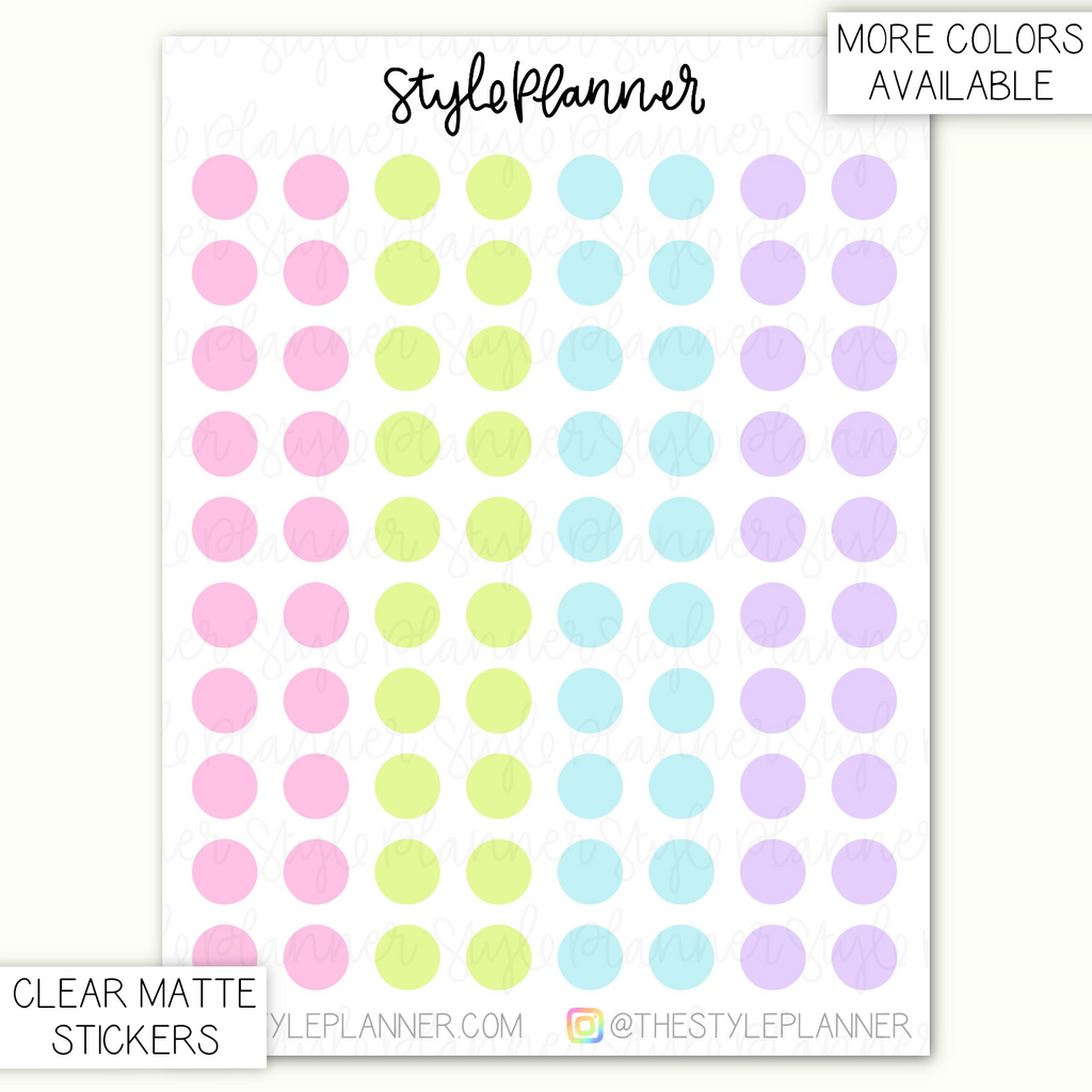 Transparent Dots 5mm | Clear Matte Stickers