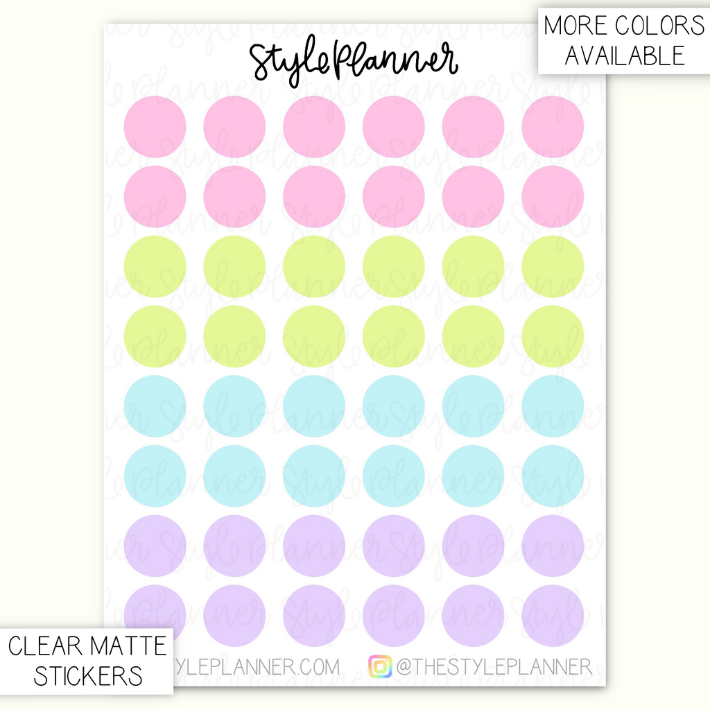 Transparent Dots 8mm | Clear Matte Stickers