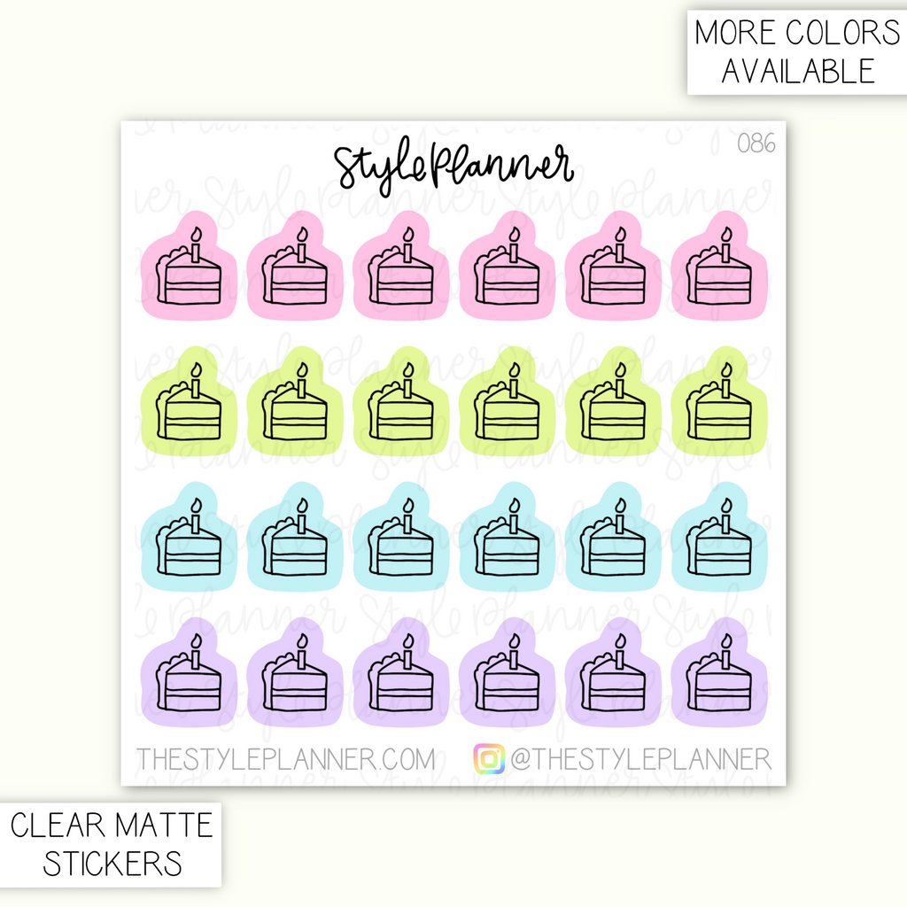 Cake Clear Matte Stickers