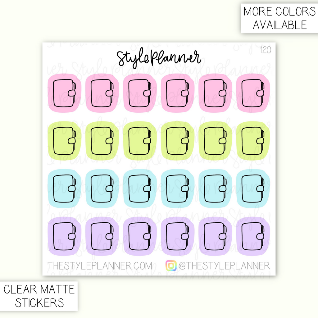 Planner Clear Matte Stickers
