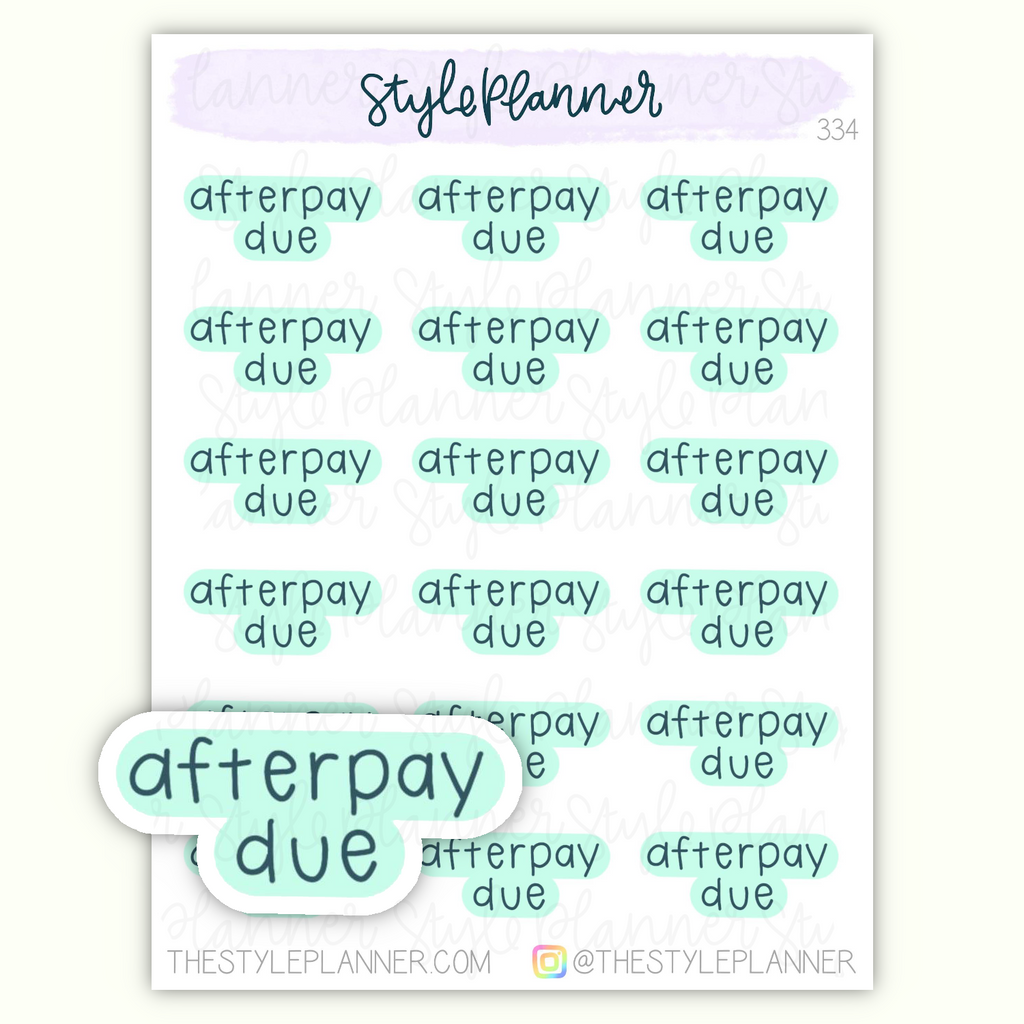 Afterpay Due Stickers