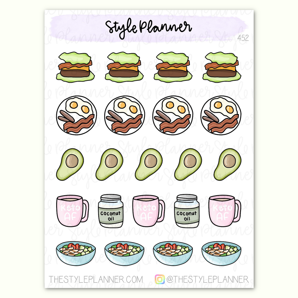 Keto Food Stickers