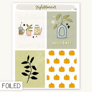 Pastel Christmas Movie Night Flat Lay Stickers With Holo Foil